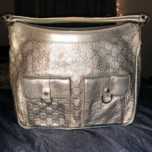 Pre Loved Authentic Gucci Silver Handbag